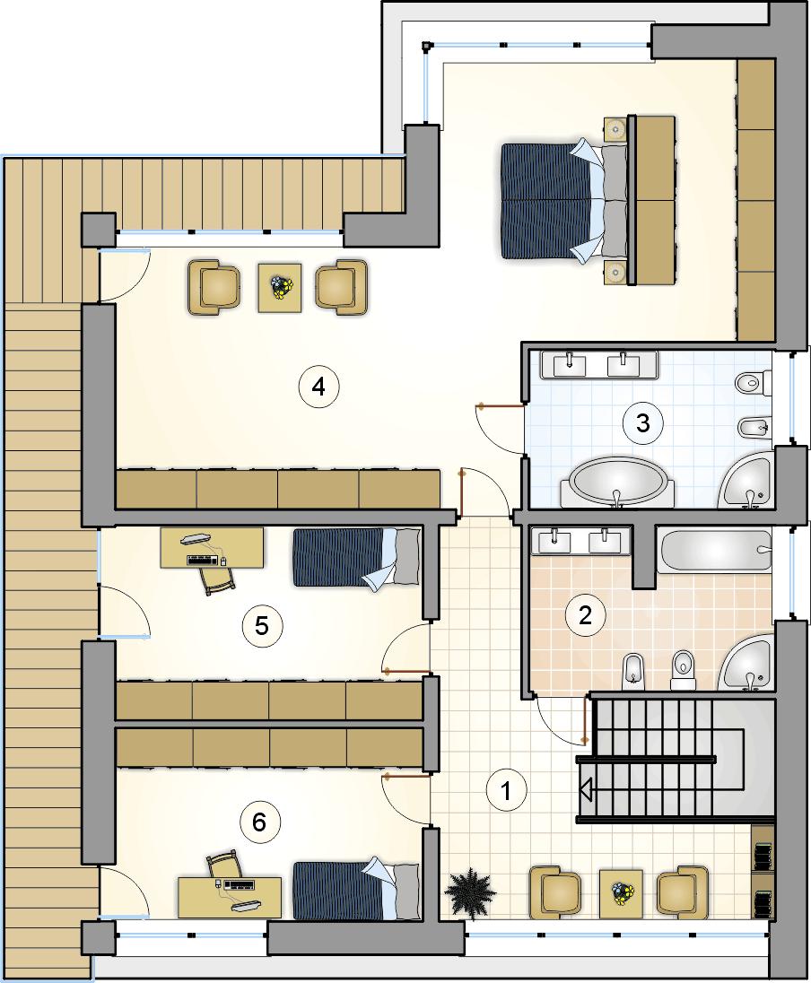 Rzut piętra - projekt New House