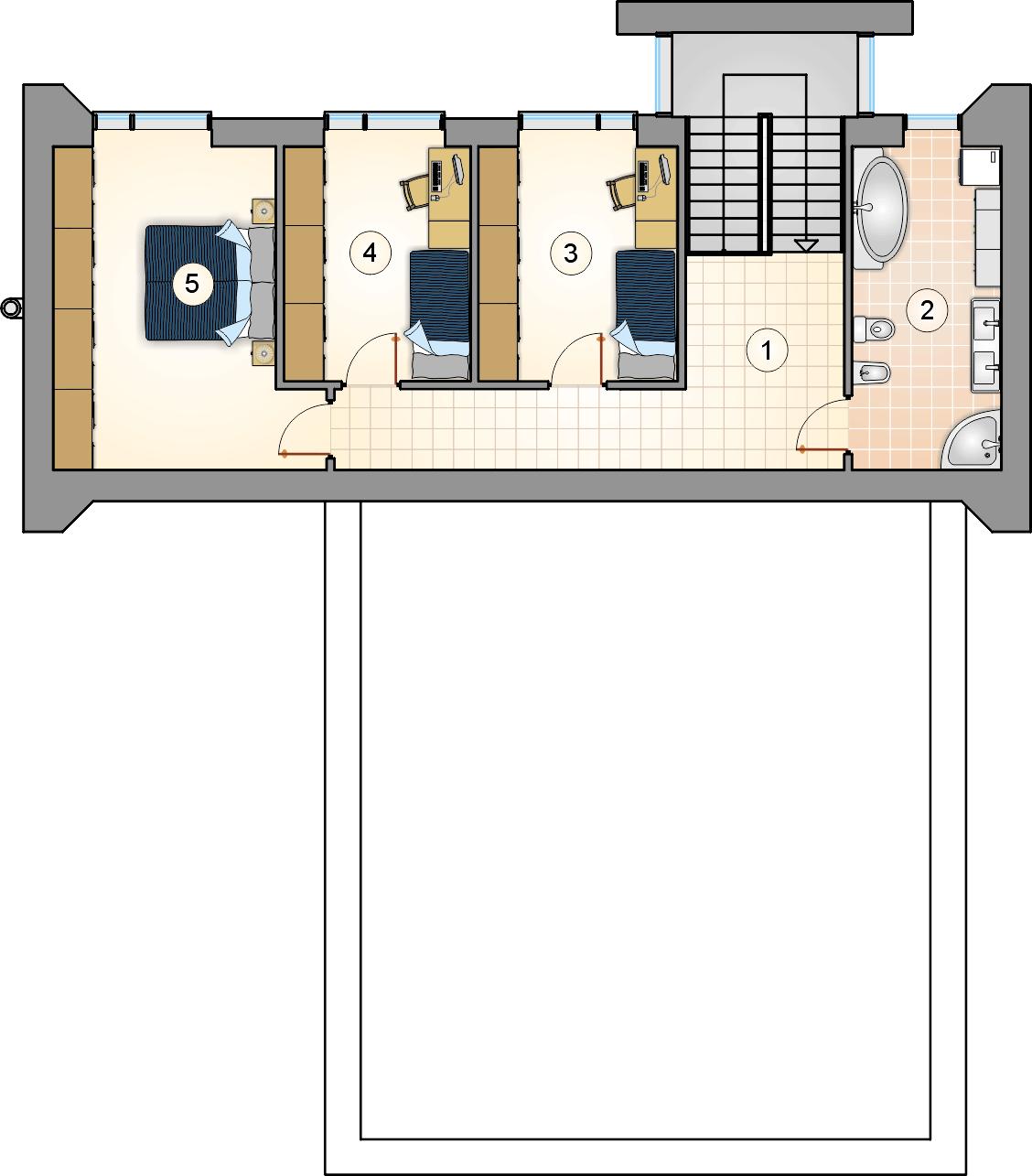 Rzut piętra - projekt New Box