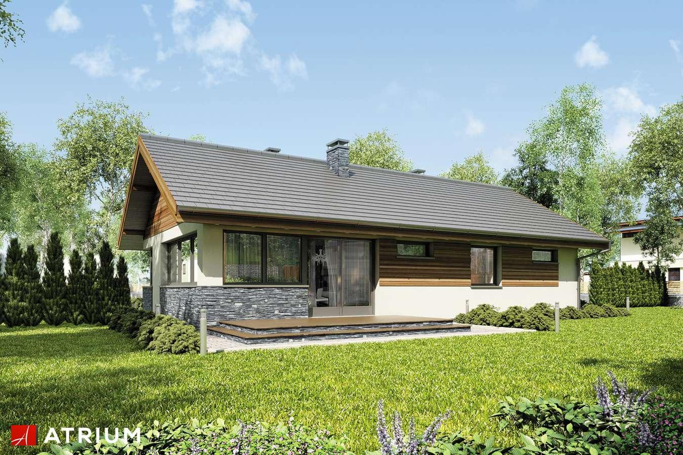 Projekty domów - Projekt domu parterowego ZORBA VII - wizualizacja 2