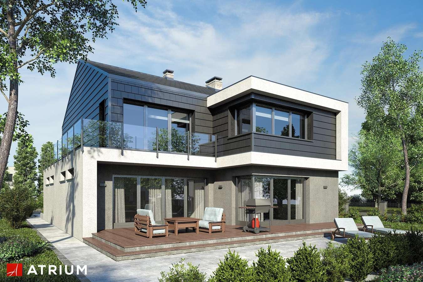 Projekty domów - Projekt domu piętrowego NEW HOUSE II - wizualizacja 1 - wersja lustrzana