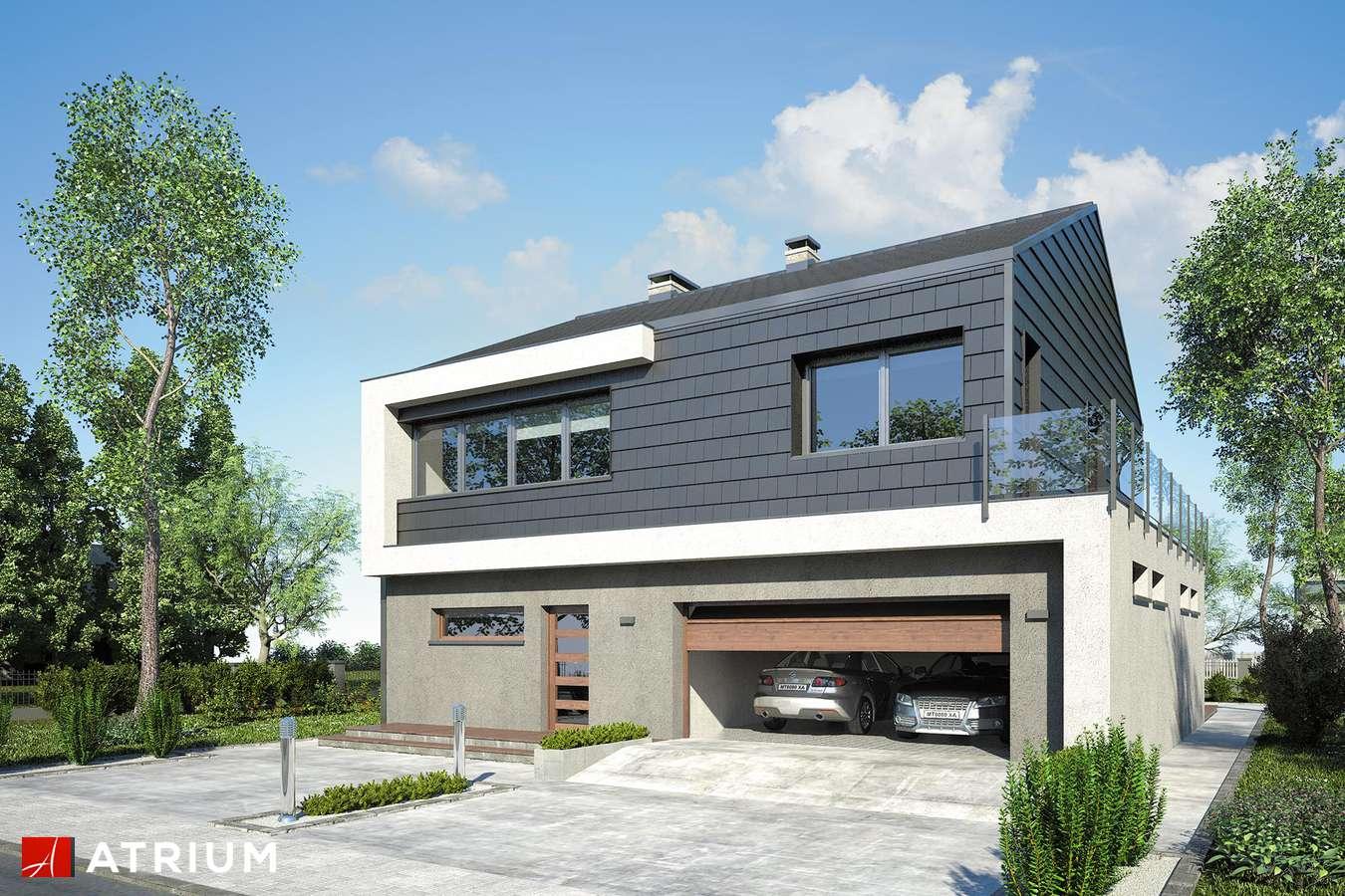 Projekty domów - Projekt domu piętrowego NEW HOUSE II - wizualizacja 2 - wersja lustrzana