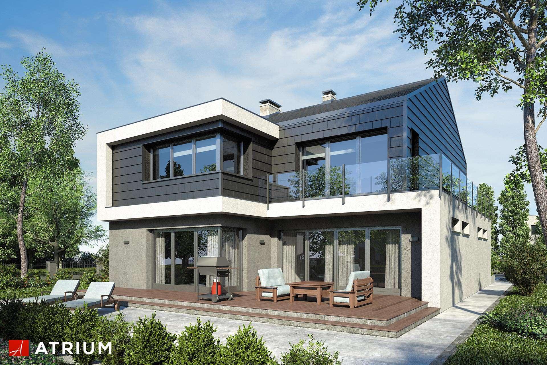 New House Ii Nowoczesny Piętrowy Dom Z Dwuspadowym Dachem I 4