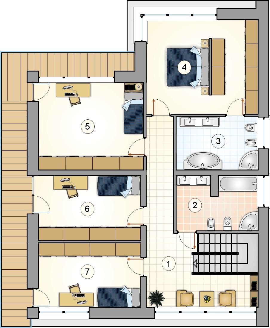 Rzut piętra - projekt New House II