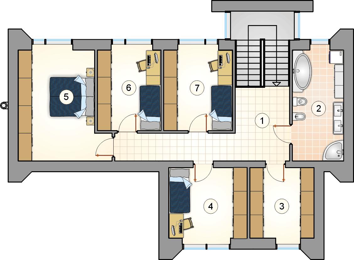 Rzut piętra - projekt New Box III