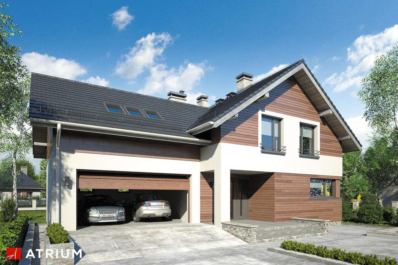 Projekty domów - Projekt domu z poddaszem JUPITER XII - wizualizacja 1
