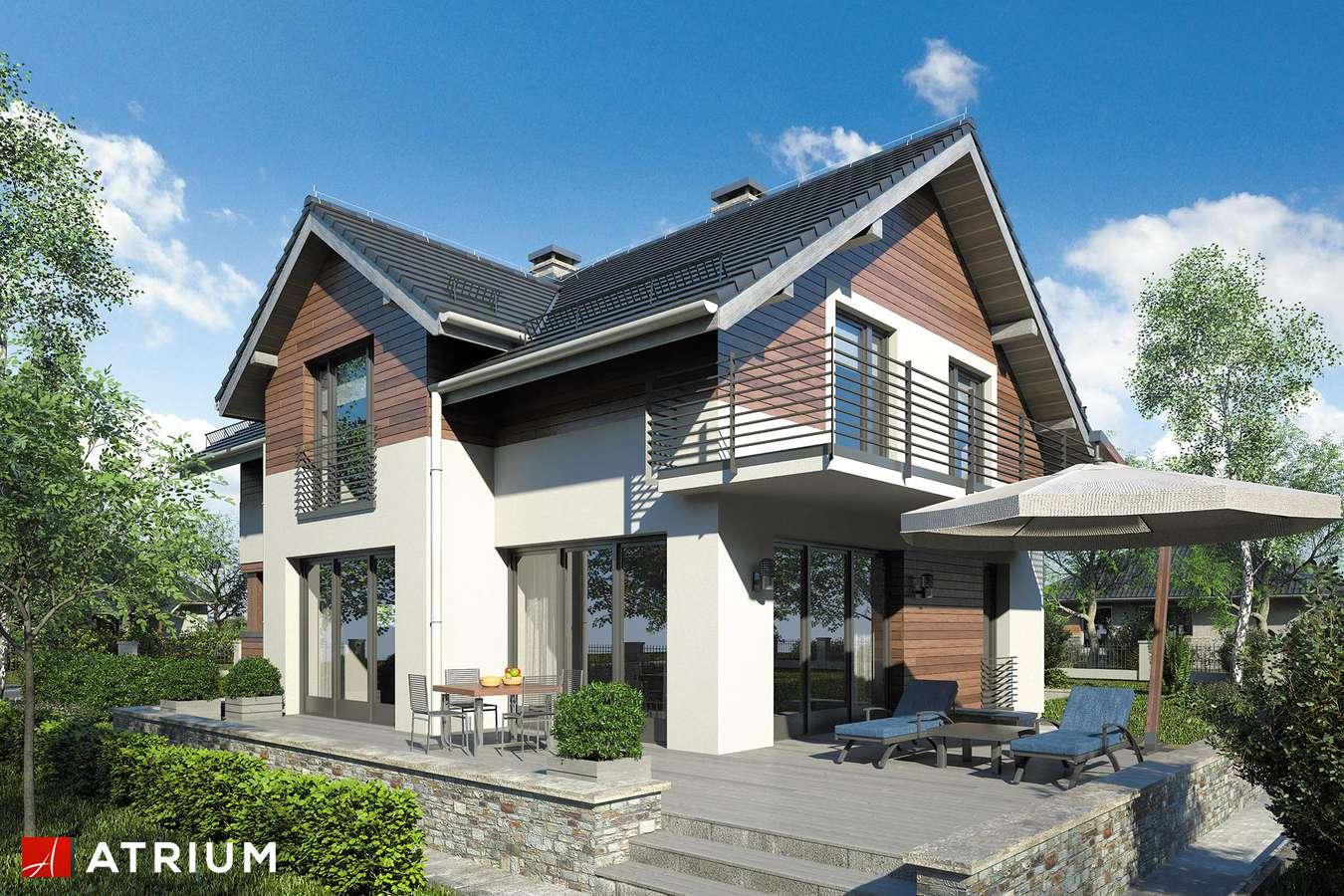 Projekty domów - Projekt domu z poddaszem JUPITER XII - wizualizacja 2