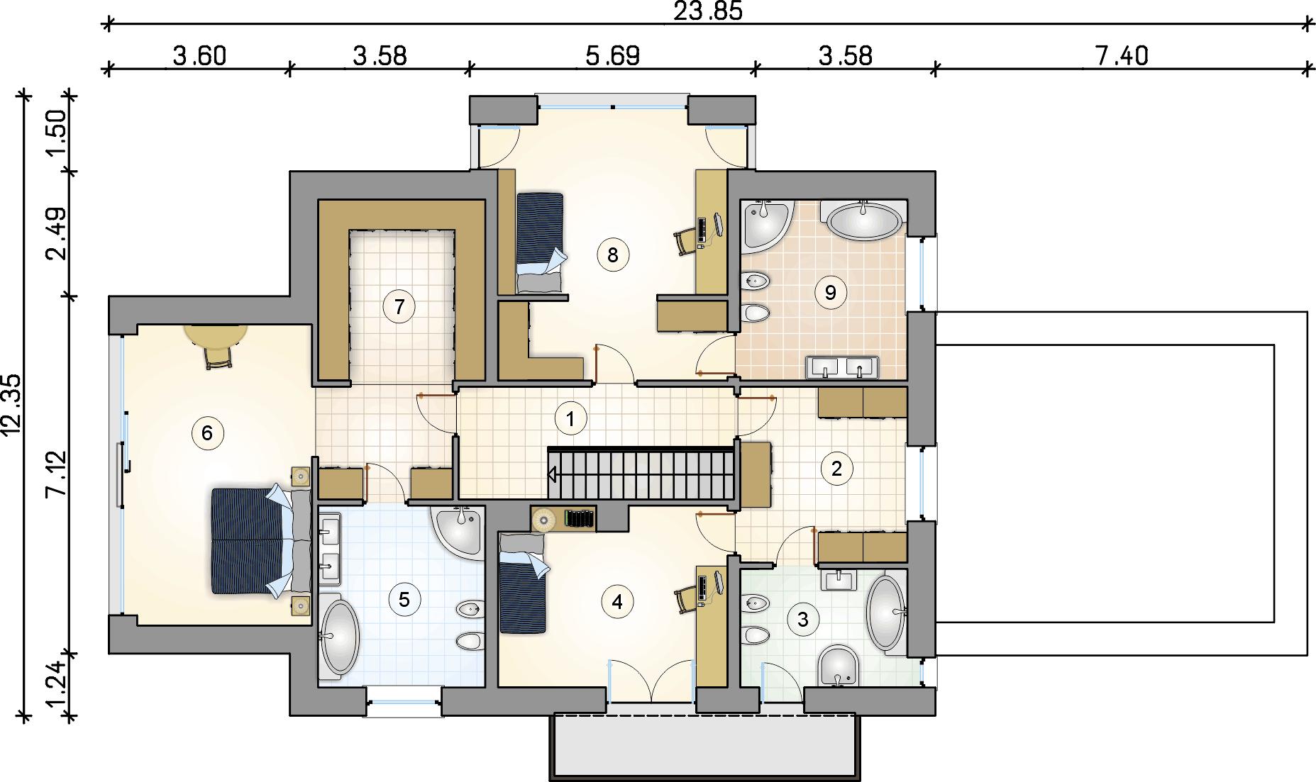 Rzut piętra - projekt Senator II