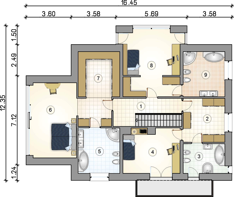 Rzut piętra - projekt Senator