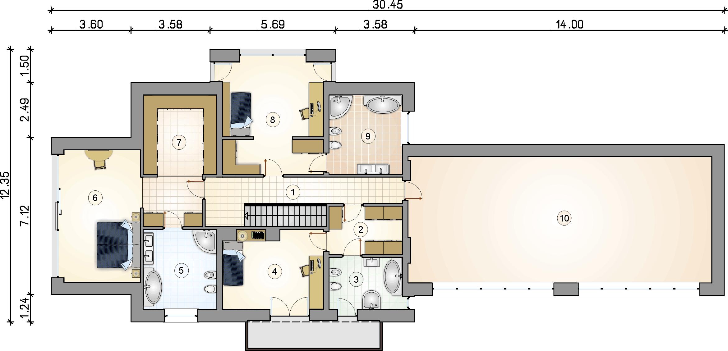 Rzut piętra - projekt Senator III
