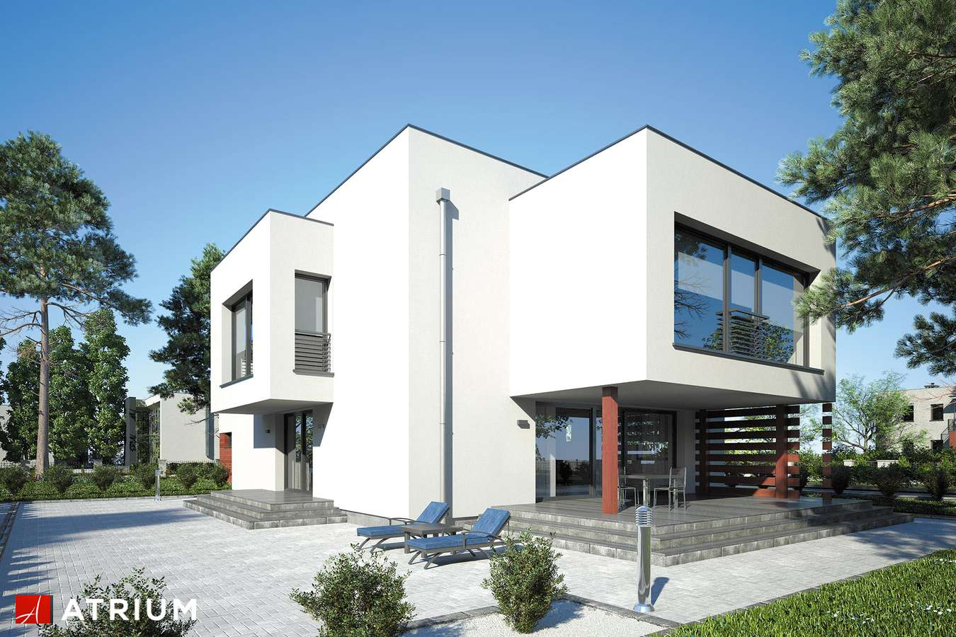 Projekty domów - Projekt domu piętrowego SENATOR III - wizualizacja 1