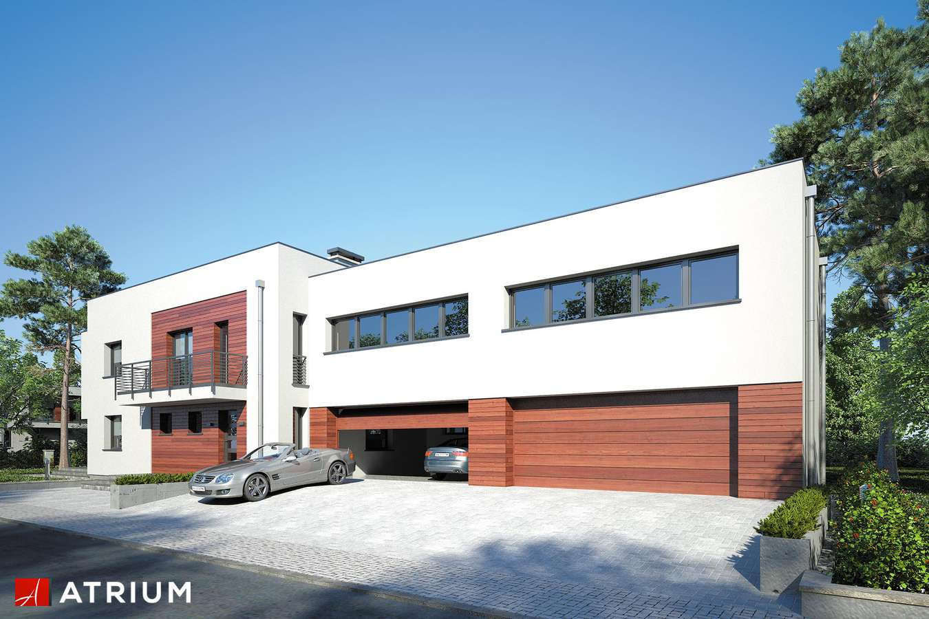 Projekty domów - Projekt domu piętrowego SENATOR III - wizualizacja 2