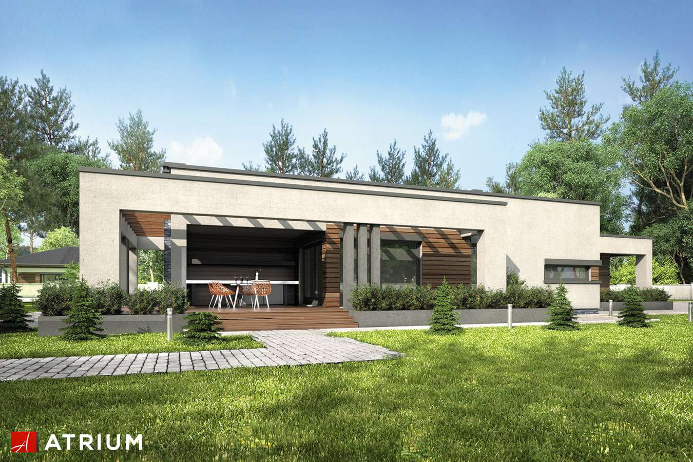 Projekty domów - Projekt domu parterowego SARDYNIA V - wizualizacja 2