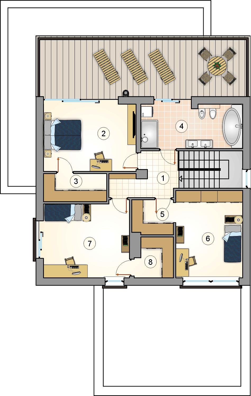 Rzut piętra - projekt Kalabria