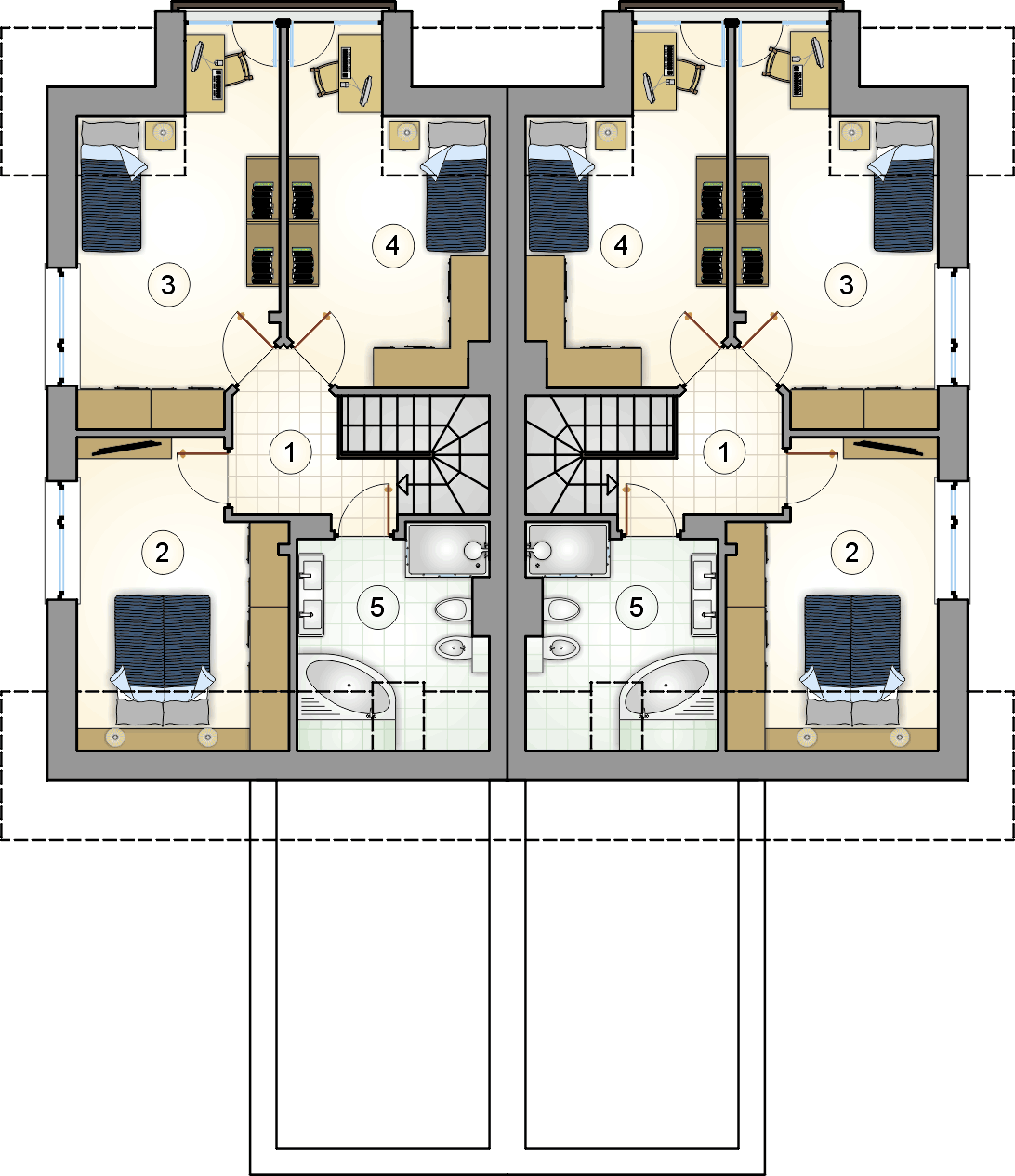 Rzut poddasza - projekt Duet II