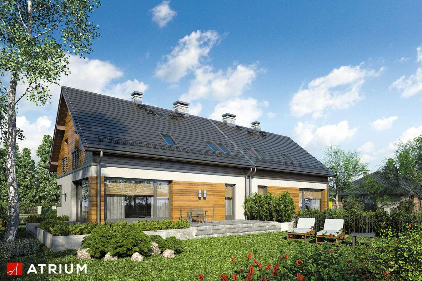 Projekty domów - Projekt domu z poddaszem POLO DUO III - wizualizacja 2