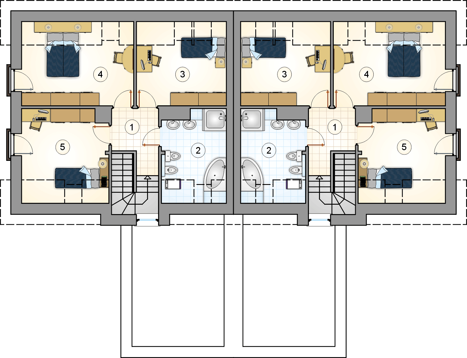 Rzut poddasza - projekt Polo Duo III