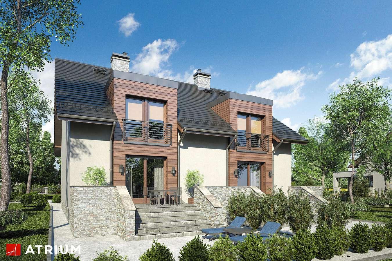 Projekty domów - Projekt domu z poddaszem TANDEM II - wizualizacja 2