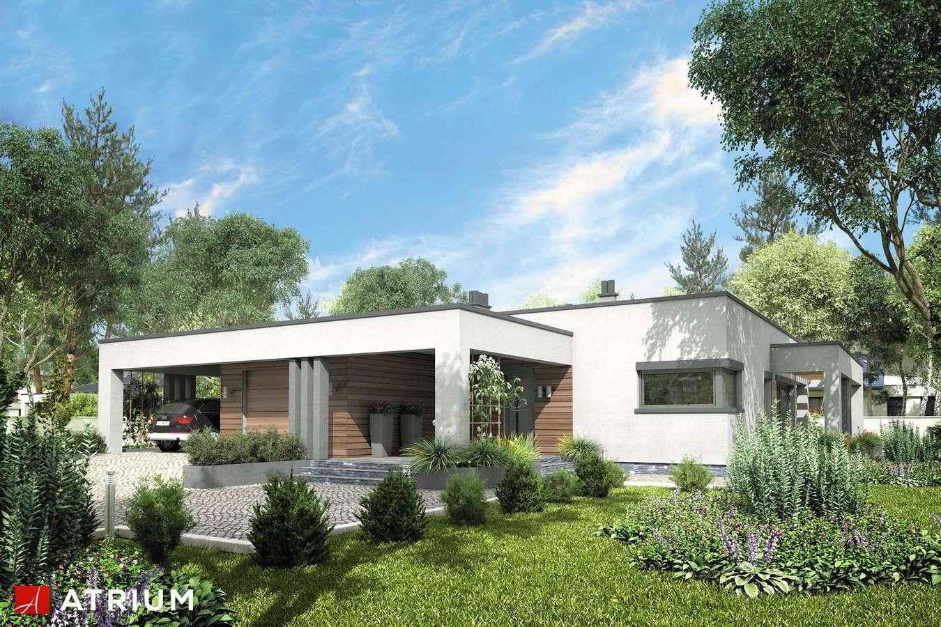 Projekty domów - Projekt domu parterowego SARDYNIA VI - wizualizacja 1 - wersja lustrzana