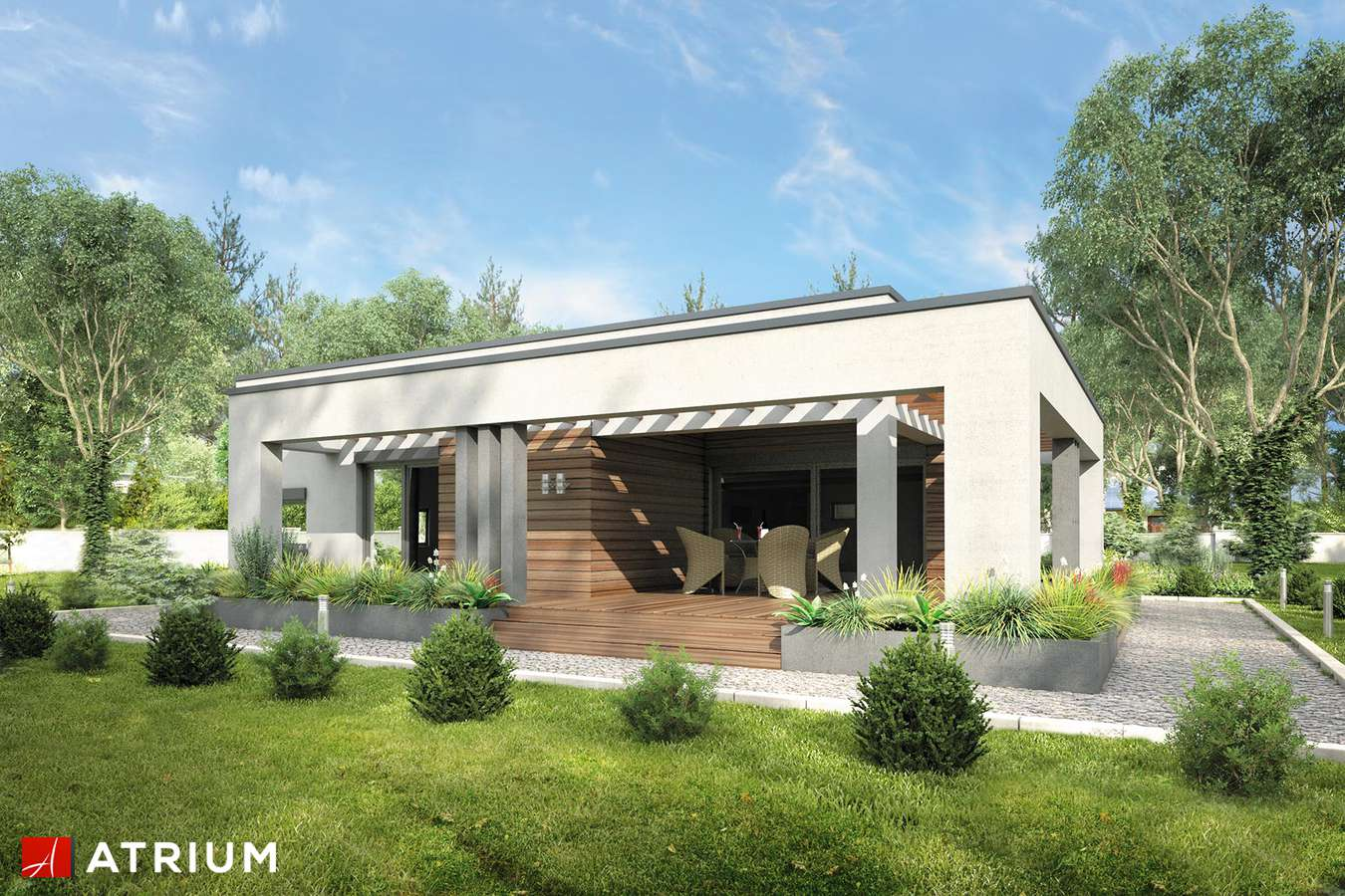 Projekt domu parterowego SARDYNIA VI - wizualizacja 2