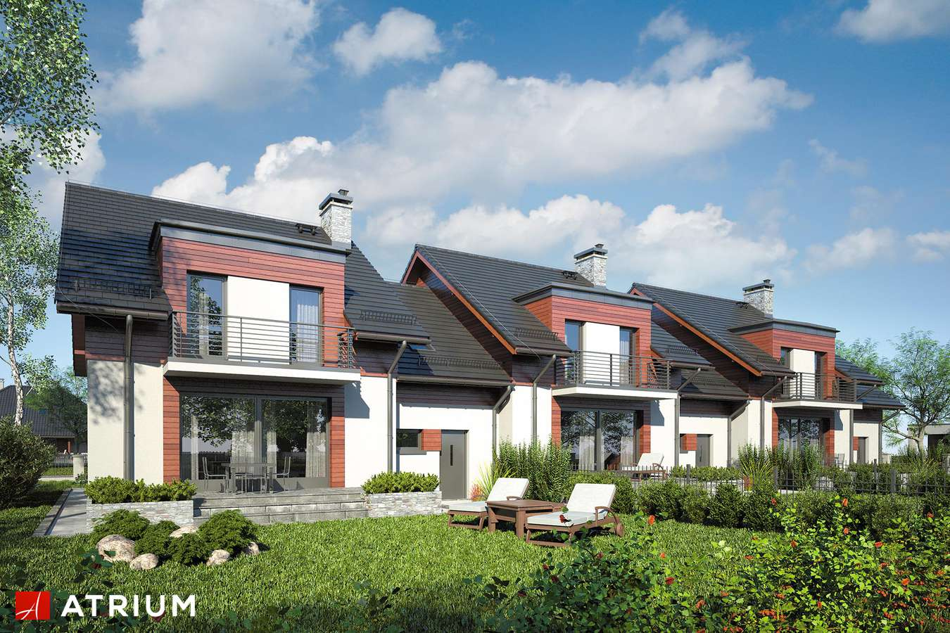 Projekty domów - Projekt domu z poddaszem FOKSTROT MULTI II - wizualizacja 2