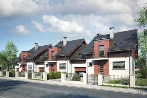 Projekt domu z poddaszem FOKSTROT MULTI II - wizualizacja 1