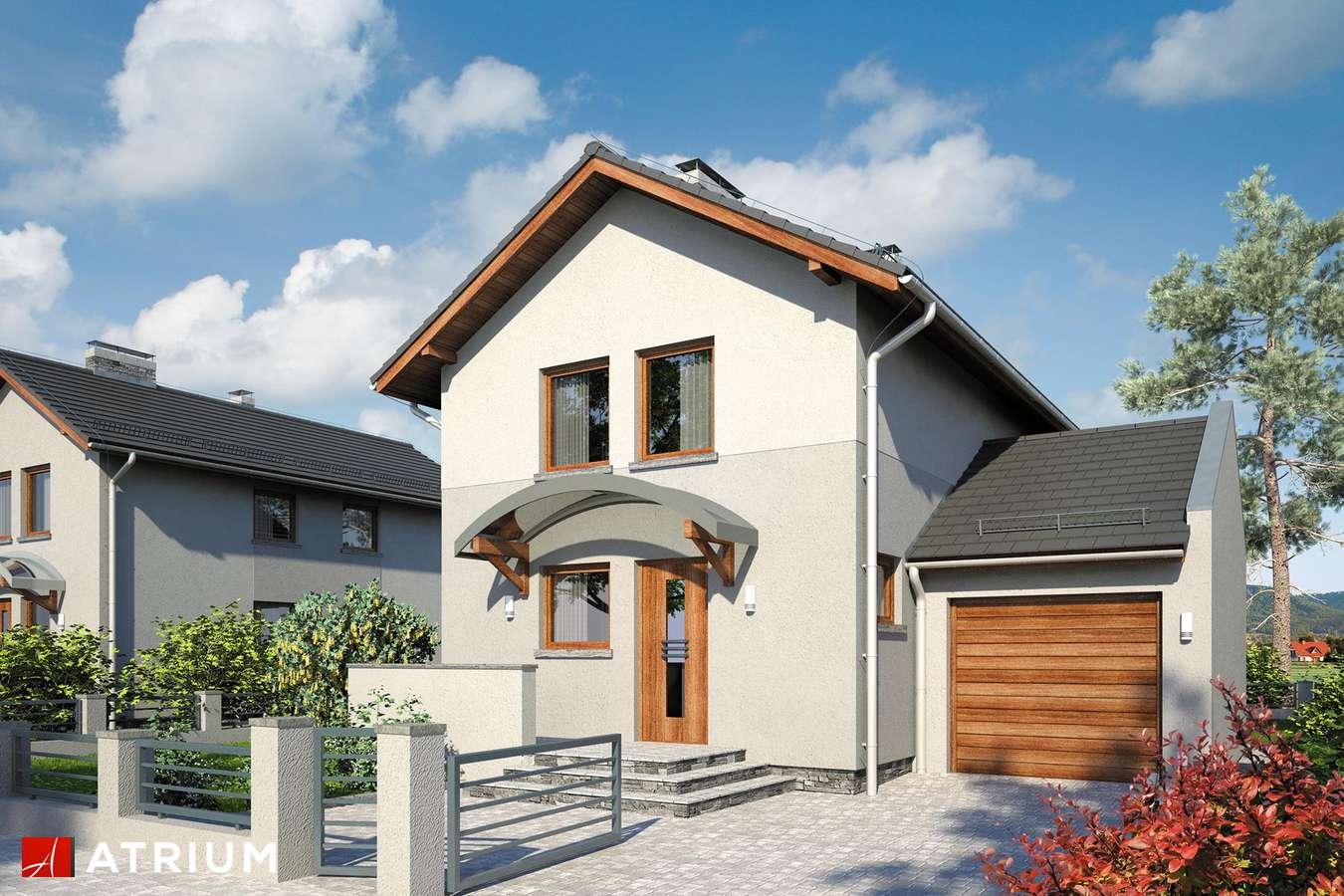 Projekty domów - Projekt domu piętrowego KAMYCZEK - wizualizacja 1
