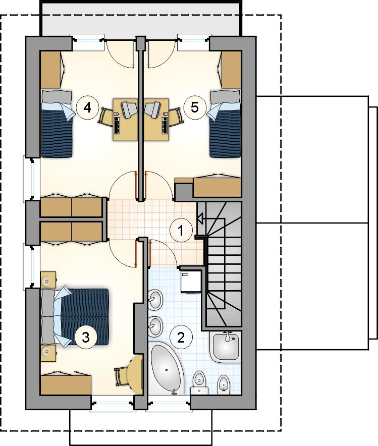 Rzut piętra - projekt Kamyczek