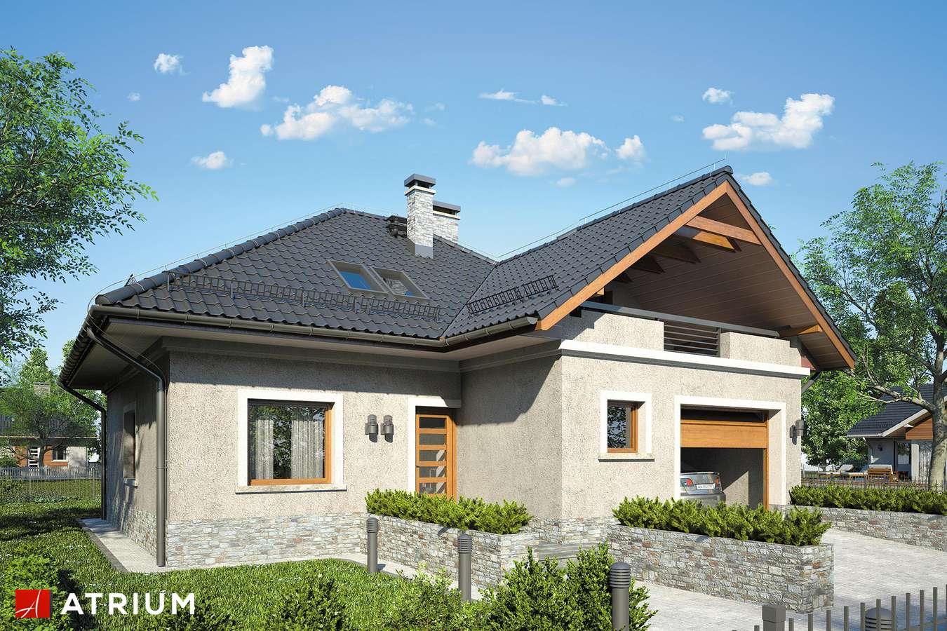 Projekty domów - Projekt domu z poddaszem FADO IV - wizualizacja 1