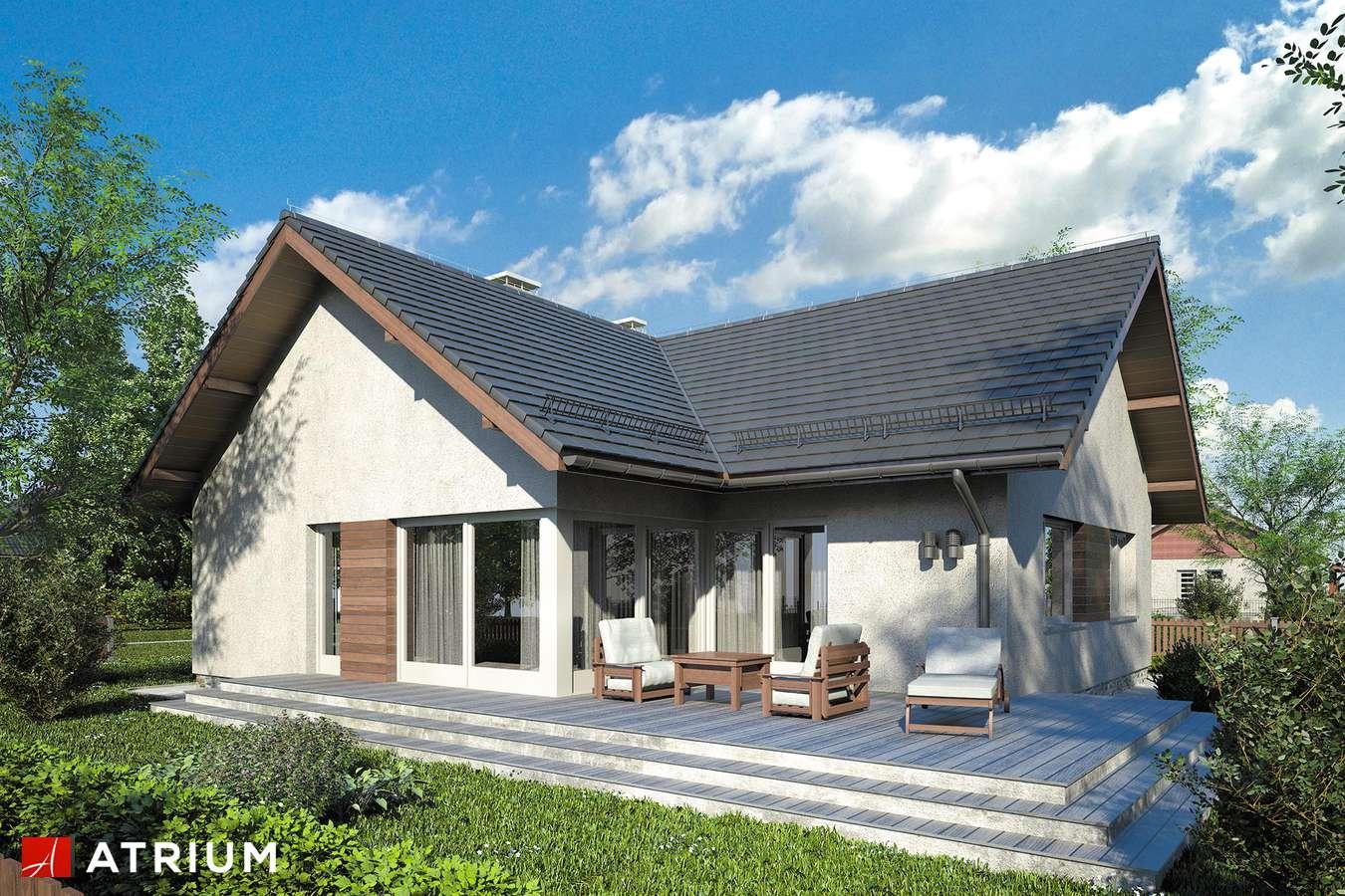 Projekty domów - Projekt domu parterowego AMBER IX - wizualizacja 2 - wersja lustrzana