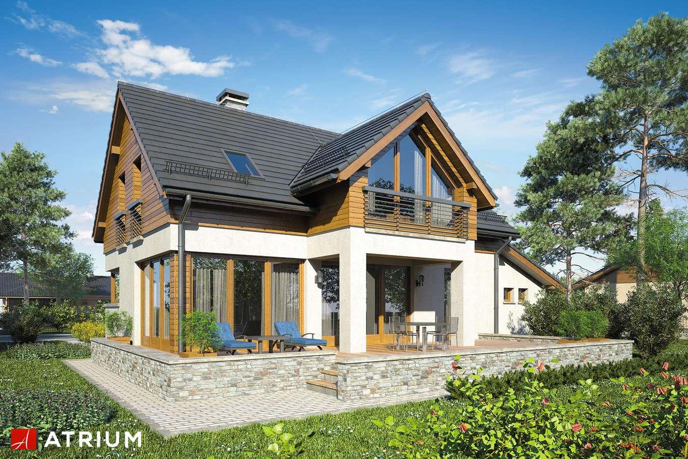 Projekty domów - Projekt domu z poddaszem SAMBA XII - wizualizacja 2