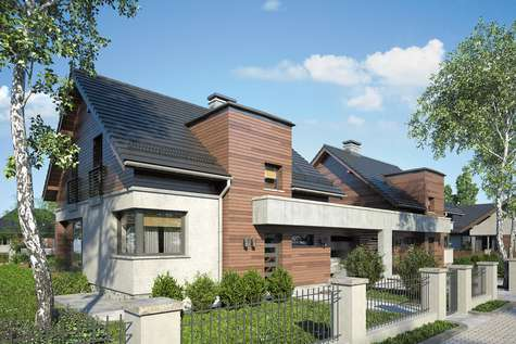 Projekt domu z poddaszem POLO DUO IV - wizualizacja 1