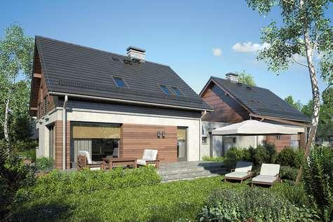 Projekt domu z poddaszem POLO DUO IV - wizualizacja 2
