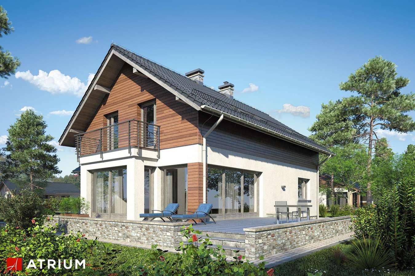 Projekty domów - Projekt domu z poddaszem MERLOT - wizualizacja 2