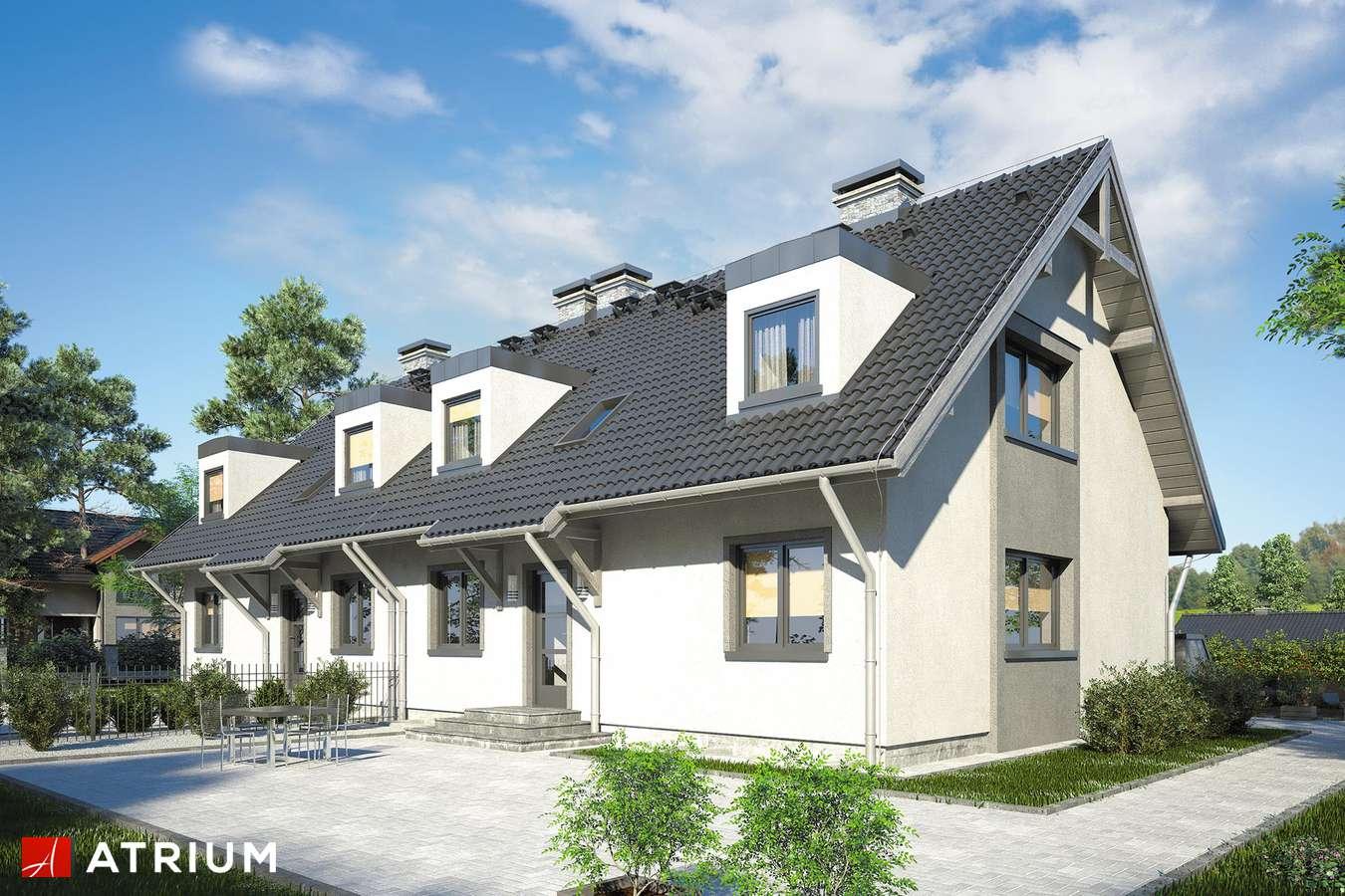 Projekty domów - Projekt domu z poddaszem MAREK I WACEK II - wizualizacja 2