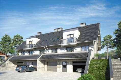 Projekt domu z poddaszem MAREK I WACEK II - wizualizacja 1