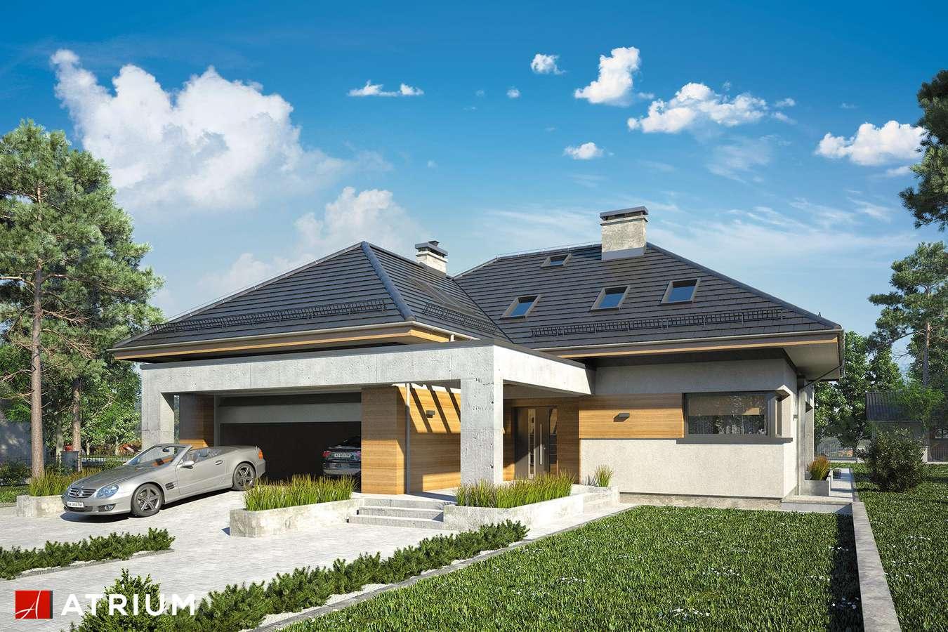 Projekty domów - Projekt domu z poddaszem CABERNET - wizualizacja 1