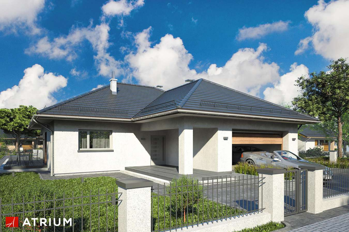 Projekty domów - Projekt domu parterowego WINNER - wizualizacja 2