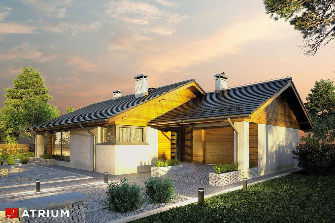 Projekty domów - Projekt domu parterowego KOS - wizualizacja 2