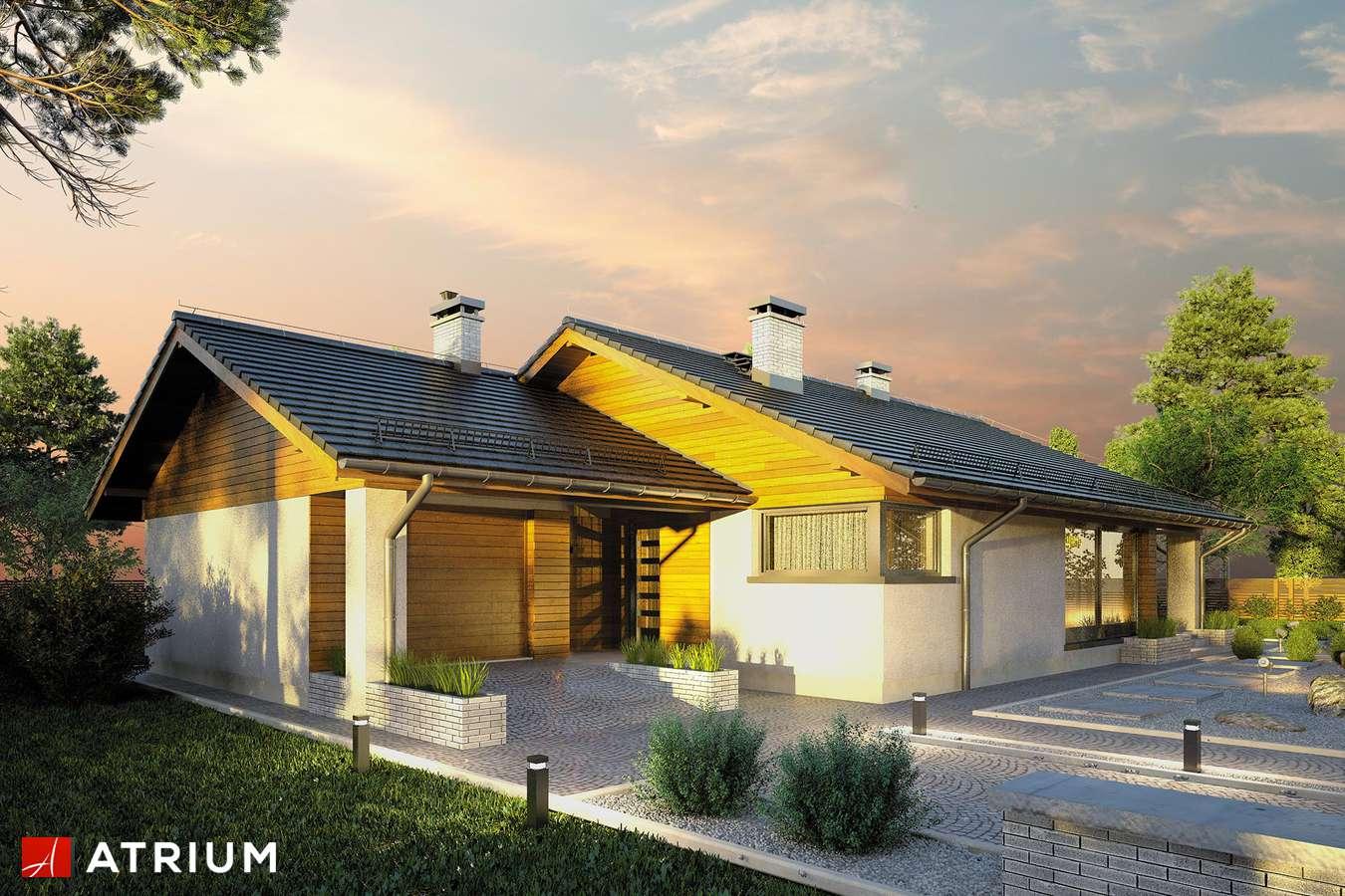 Projekty domów - Projekt domu parterowego KOS - wizualizacja 2 - wersja lustrzana