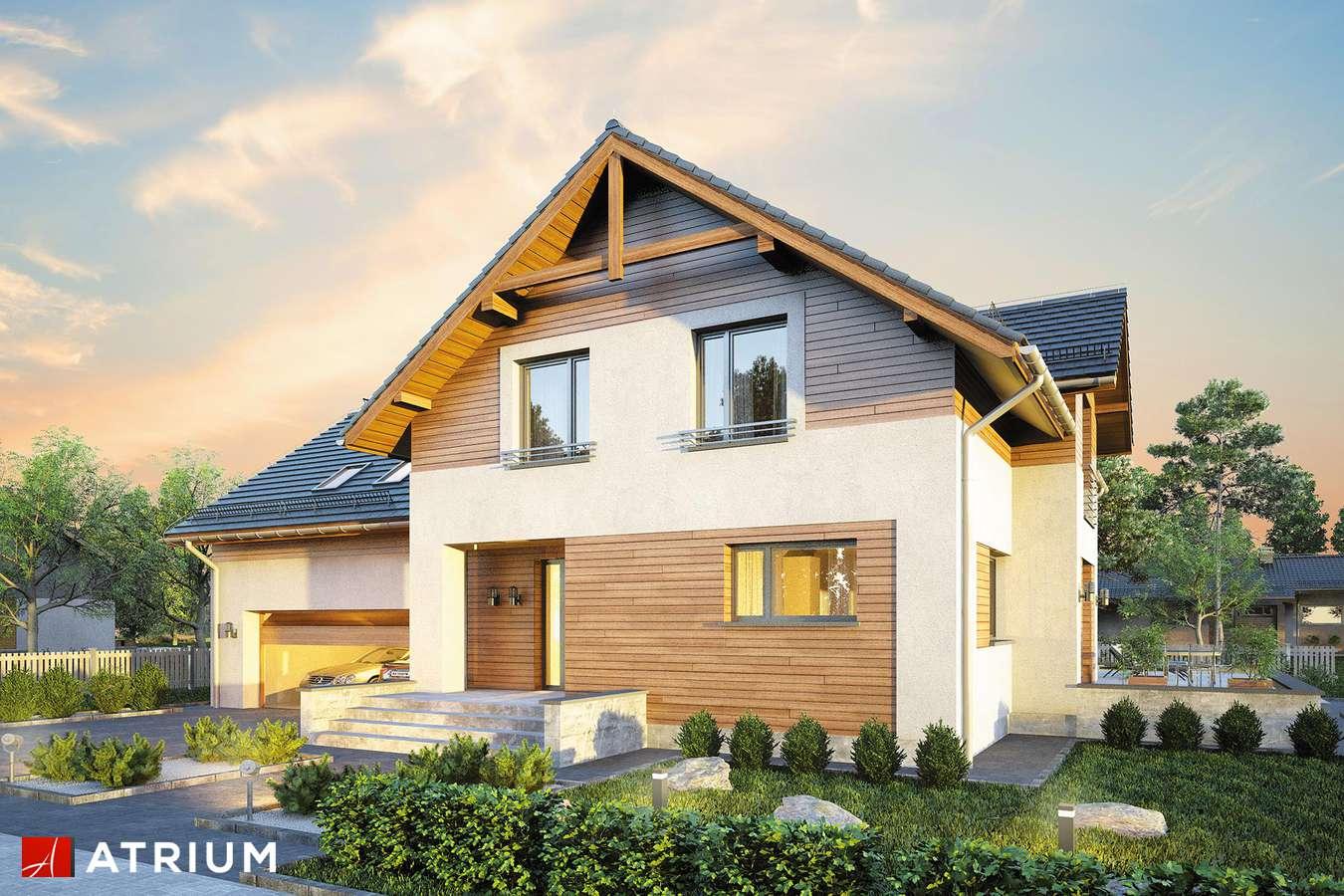 Projekty domów - Projekt domu z poddaszem JUPITER XIV - wizualizacja 1