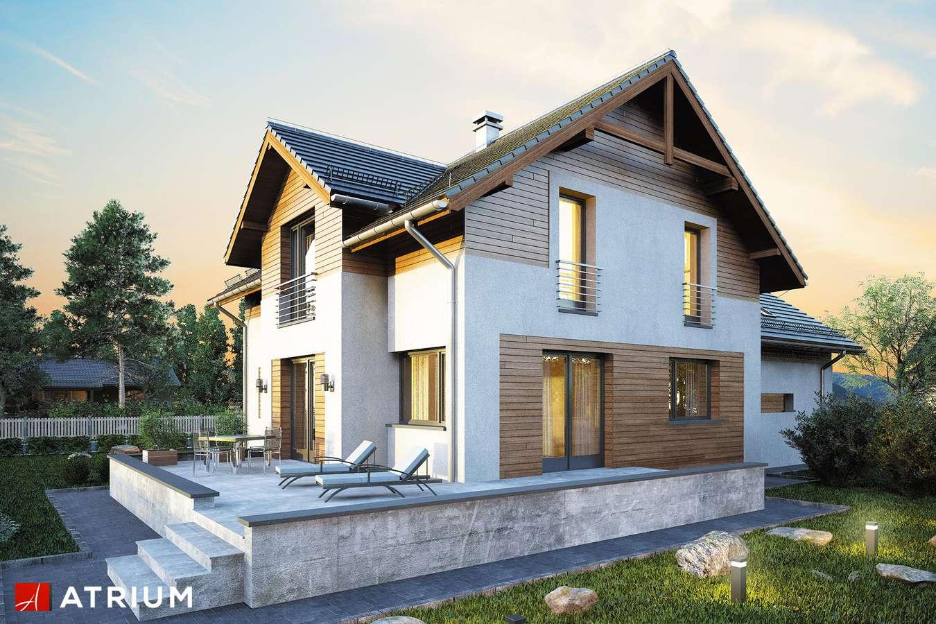 Projekty domów - Projekt domu z poddaszem JUPITER XIV - wizualizacja 2
