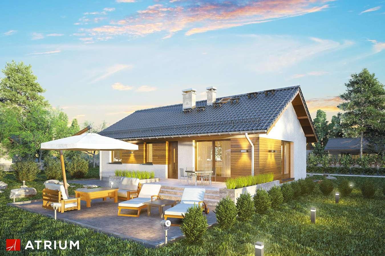 Projekty domów - Projekt domu parterowego AURORA MIDI - wizualizacja 1 - wersja lustrzana