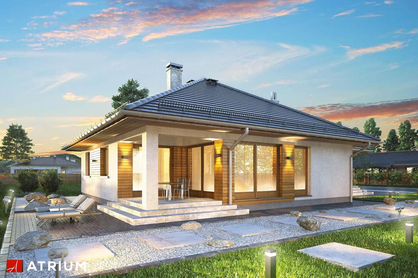 Projekty domów - Projekt domu parterowego BURSZTYN PLUS - wizualizacja 2