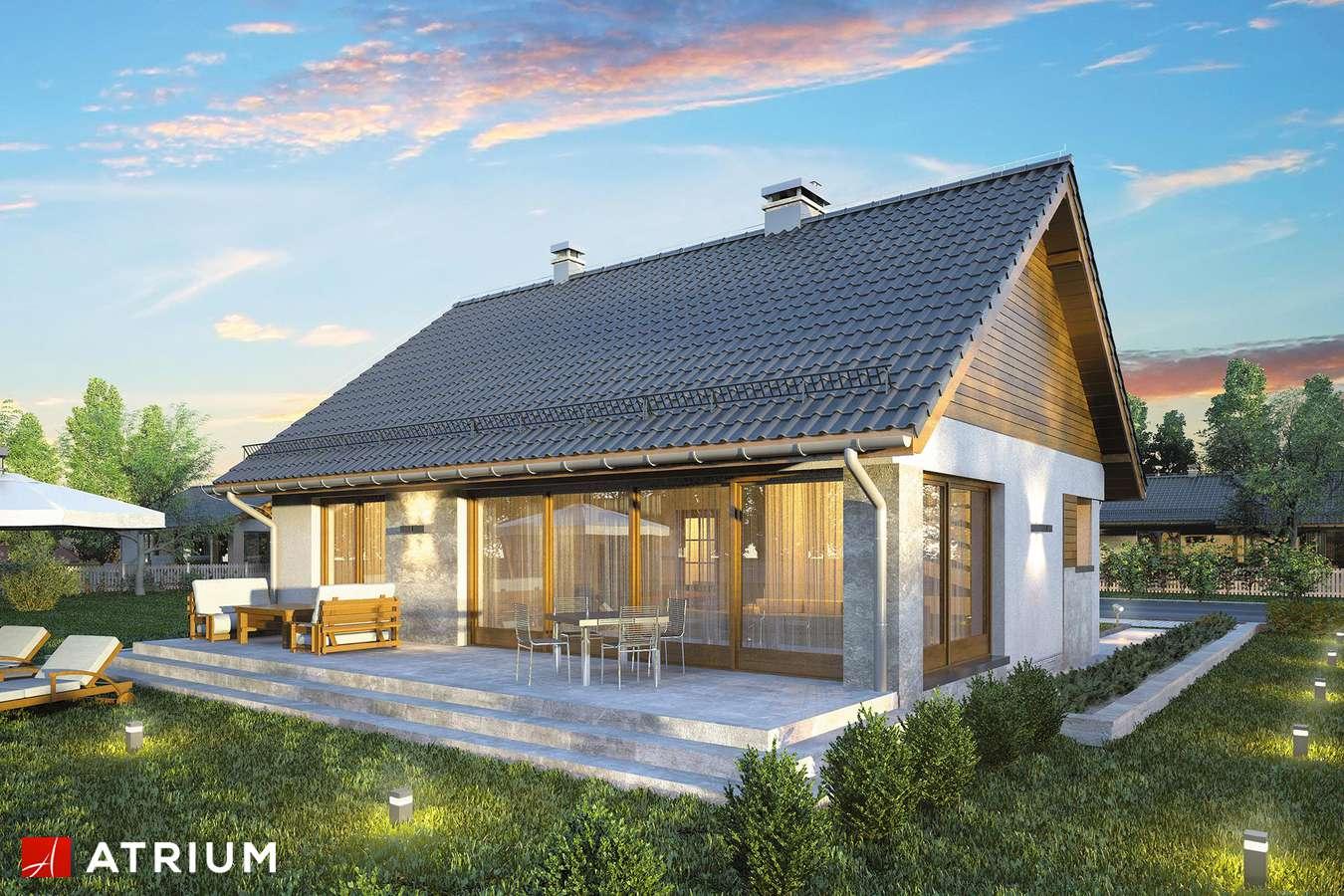 Projekty domów - Projekt domu parterowego RICARDO X LIFT - wizualizacja 2 - wersja lustrzana
