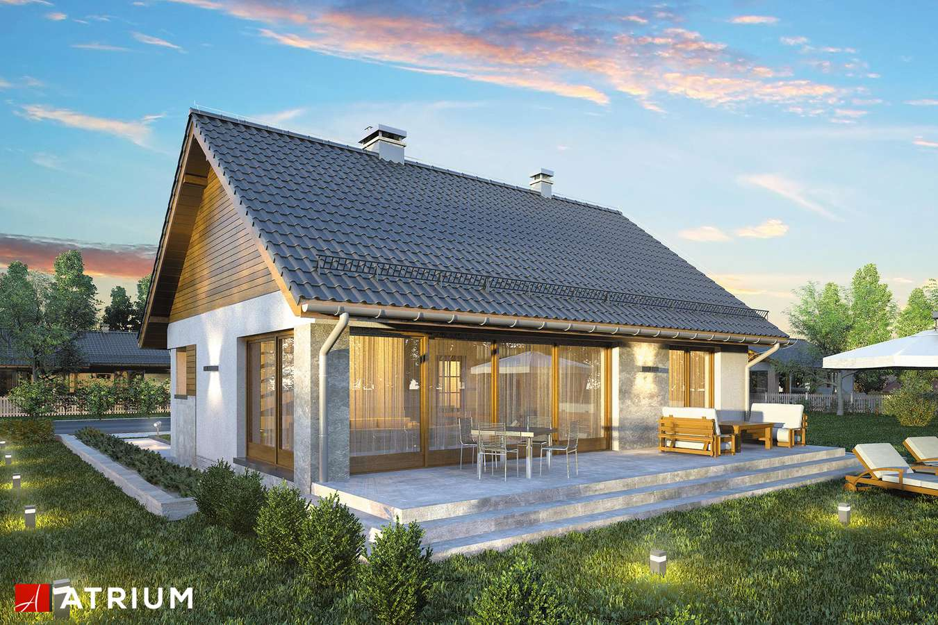 Projekty domów - Projekt domu parterowego RICARDO X LIFT - wizualizacja 2
