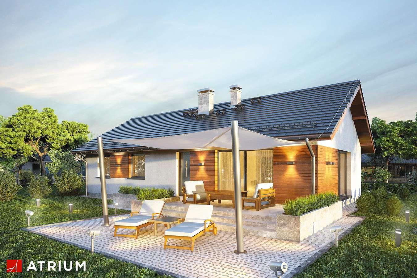 Projekty domów - Projekt domu parterowego AURORA MAXI - wizualizacja 2 - wersja lustrzana