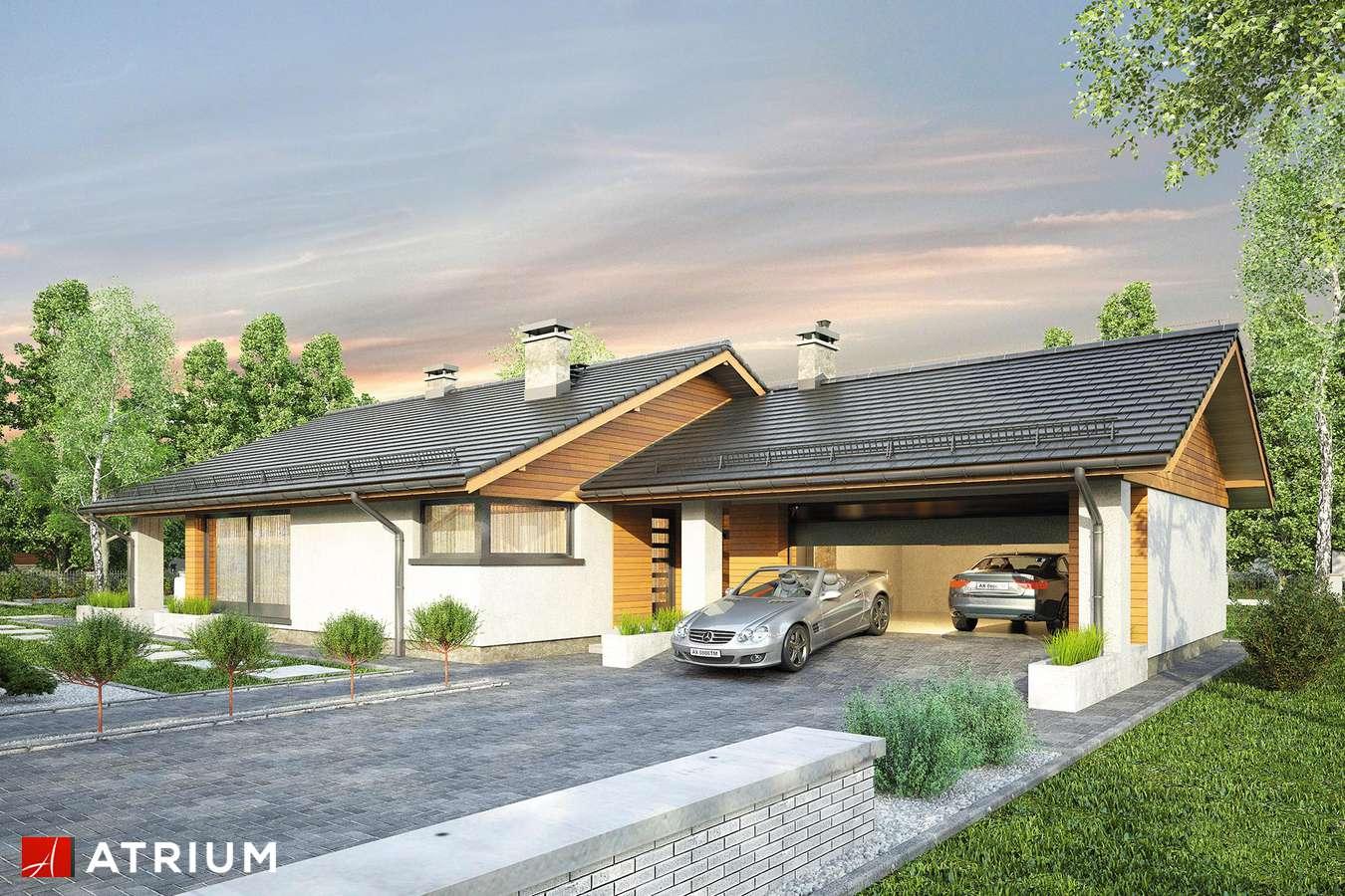 Projekty domów - Projekt domu parterowego KOS II - wizualizacja 1