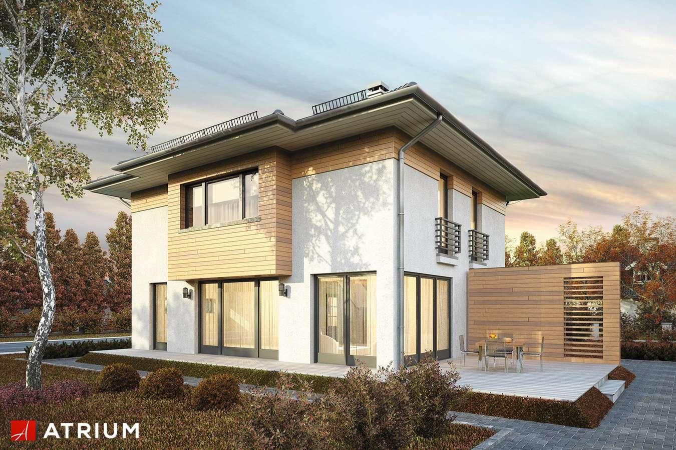 Projekty domów - Projekt domu piętrowego MILANO V - wizualizacja 1 - wersja lustrzana
