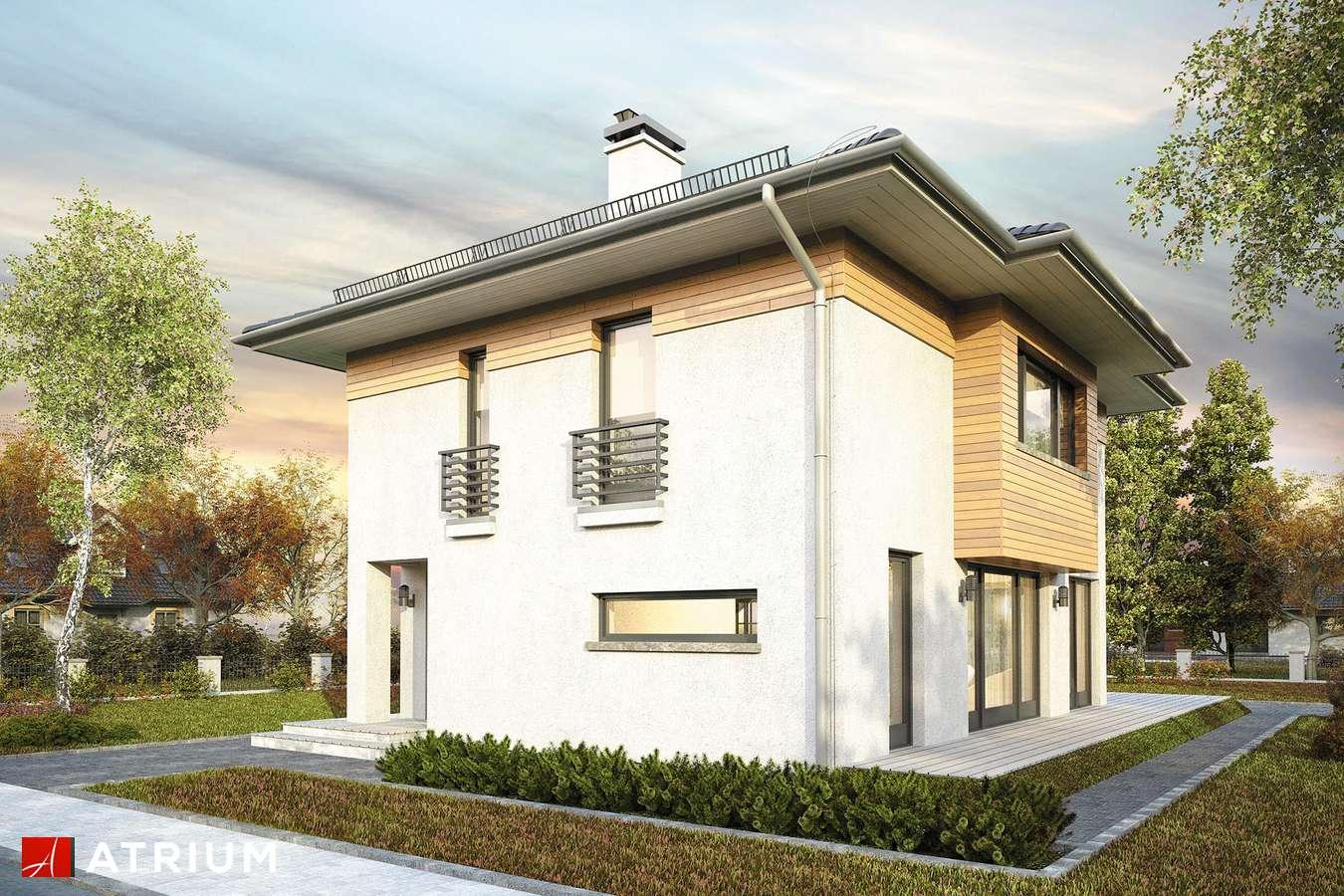 Projekty domów - Projekt domu piętrowego MILANO V - wizualizacja 2 - wersja lustrzana