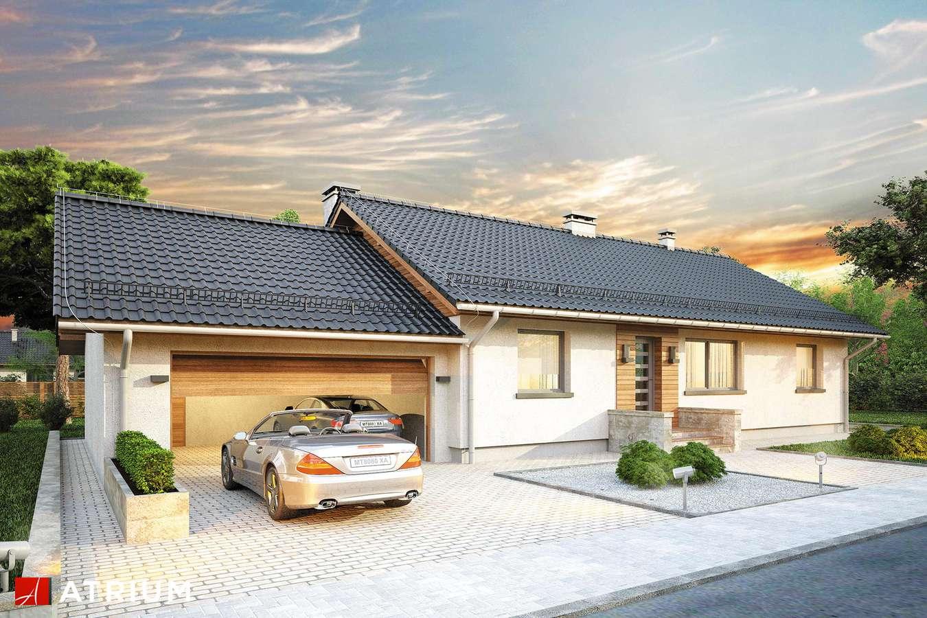 Projekty domów - Projekt domu parterowego MARS II - wizualizacja 1